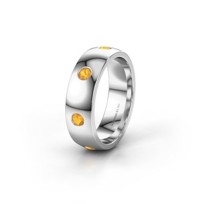 Alliance WH0105L26BP 925 argent citrine ±6x2 mm