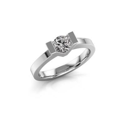 Foto van Aanzoeksring Sherley 1 950 platina diamant 0.40 crt