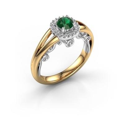 Foto van Verlovingsring Carina 585 goud smaragd 4.7 mm