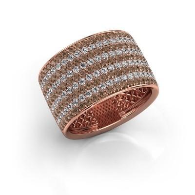Foto van Ring Macy 375 rosé goud bruine diamant 2.26 crt