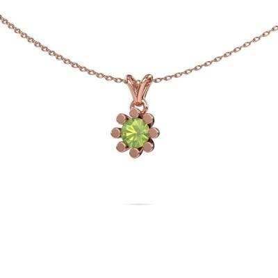 Picture of Pendant Carola 1 375 rose gold peridot 5 mm
