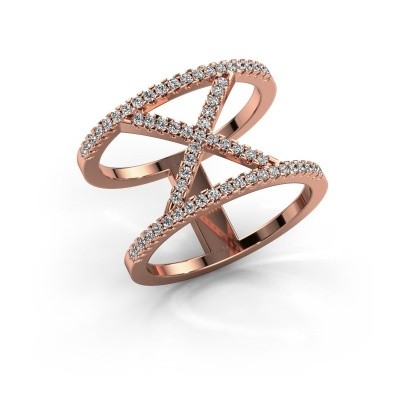 Ring Sharri 2 375 rosé goud zirkonia 1.1 mm
