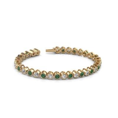 Foto van Tennisarmband Allegra 375 goud smaragd 4 mm