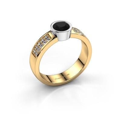 Verlovingsring Ise 3 585 goud zwarte diamant 0.63 crt