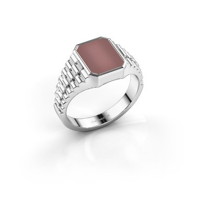 Foto van Rolex stijl ring Brent 1 585 witgoud carneool 10x8 mm