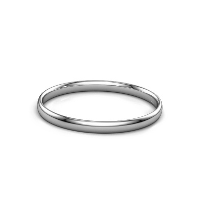Photo de Bracelet jonc Jane 6mm 950 platine