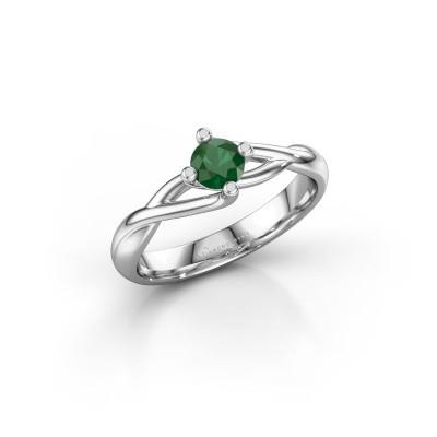 Foto van Ring Paulien 925 zilver smaragd 4.2 mm