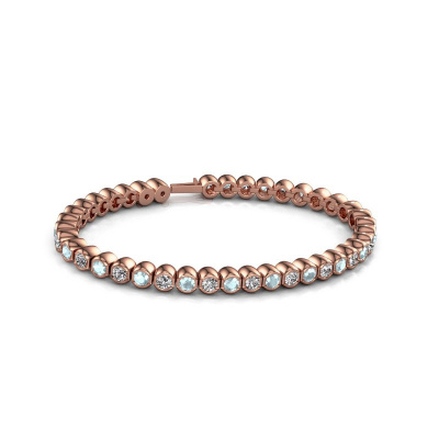 Picture of Tennis bracelet Bianca 3.5 mm 375 rose gold aquamarine 3.5 mm