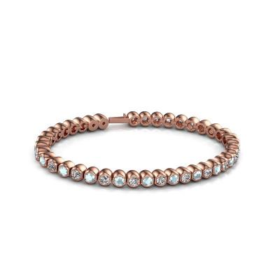 Foto van Tennisarmband Bianca 3.5 mm 375 rosé goud aquamarijn 3.5 mm