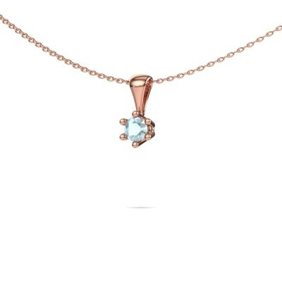 Picture of Necklace Fay 375 rose gold aquamarine 4 mm