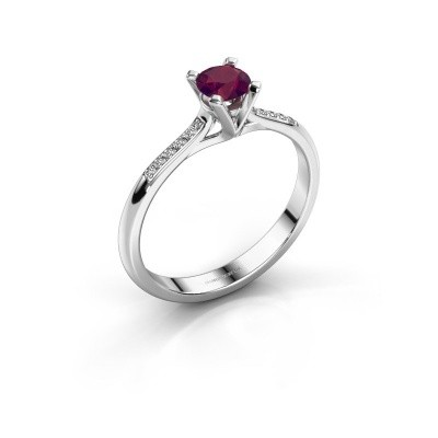 Photo de Bague de fiançailles Isa 2 585 or blanc rhodolite 4.2 mm