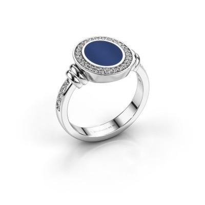 Foto van Zegelring Servie 1 925 zilver lapis lazuli 10x8 mm