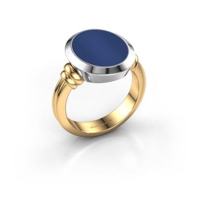 Foto van Zegelring Jake 3 585 goud lapis lazuli 15x12 mm