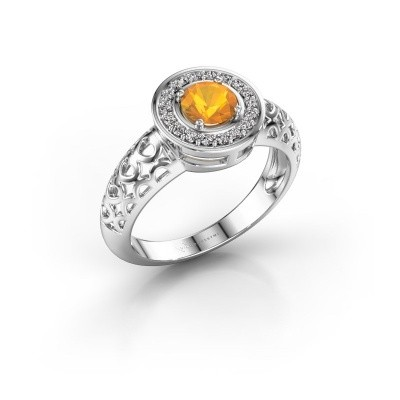 Bild von Ring Katalina 375 Weißgold Citrin 5 mm
