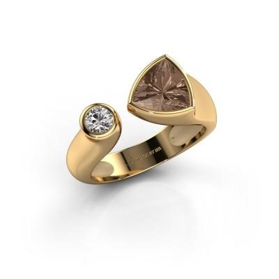 Foto van Ring Latisha 585 goud bruine diamant 1.05 crt