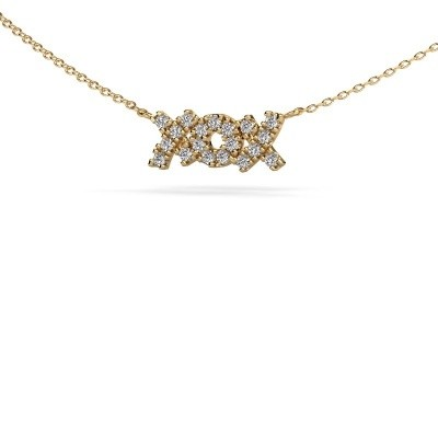 Ketting XoX 375 goud lab-grown diamant 0.285 crt
