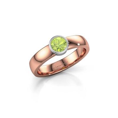 Foto van Ring Ise 1 585 rosé goud peridoot 4.7 mm