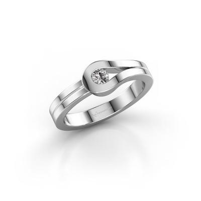Bague Kiki 925 argent diamant synthétique 0.10 crt