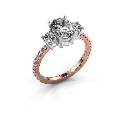 Foto van Verlovingsring Emelda 585 rosé goud diamant 1.615 crt