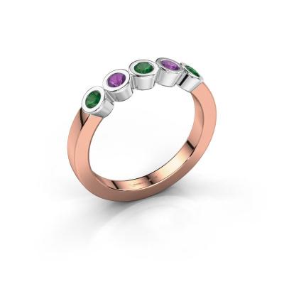 Ring Nova 585 rose gold emerald 3 mm