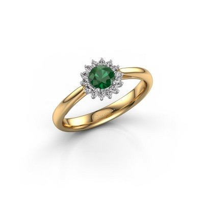 Foto van Verlovingsring Mariska 1 585 goud smaragd 4.2 mm