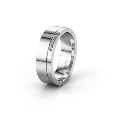 Huwelijksring WH0336L16A 585 witgoud lab-grown diamant ±6x1.7 mm