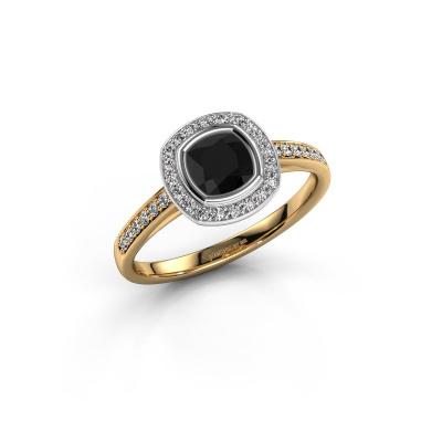 Foto van Verlovingsring Noud cus 2 585 goud zwarte diamant 0.924 crt
