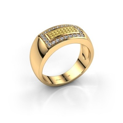 Foto van Mannen ring Lorenzo 375 goud gele saffier 1.1 mm