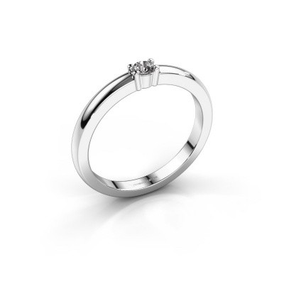 Foto van Promise ring Yasmin 1 585 witgoud zirkonia 2.7 mm