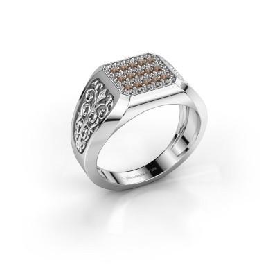 Foto van Heren ring Amir 585 witgoud bruine diamant 0.468 crt