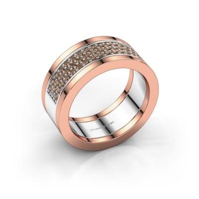 Foto van Ring Marita 5 585 witgoud bruine diamant 1.06 crt