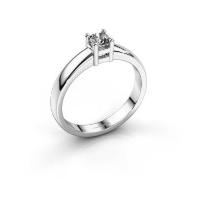 Foto van Promise ring Eline 1 950 platina diamant 0.25 crt
