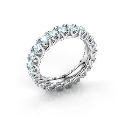 Bild von Ring Fenna 925 Silber Aquamarin 3 mm