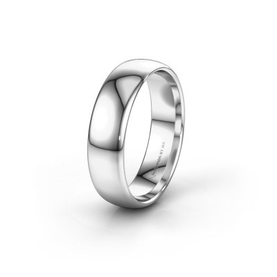 Wedding ring WH0100M36AP 375 white gold ±0.24x0.07 in
