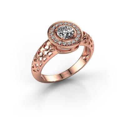 Foto van Ring Katalina 375 rosé goud diamant 0.62 crt