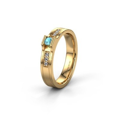Trouwring WH2110L14A 585 goud blauw topaas ±4x1.7 mm