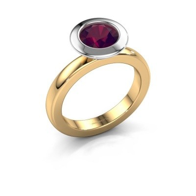 Stacking ring Trudy Round 585 gold rhodolite 7 mm