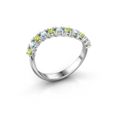 Ring Eliza 585 witgoud peridoot 2 mm