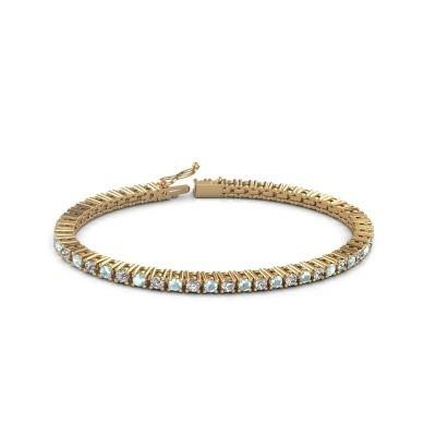 Foto van Tennisarmband Petra 375 goud aquamarijn 3 mm