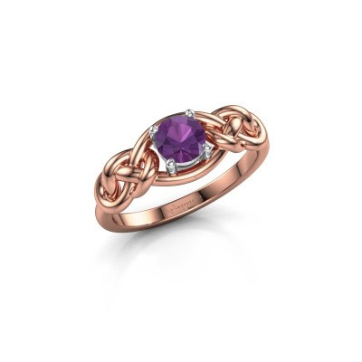 Picture of Ring Zoe 585 rose gold amethyst 5 mm
