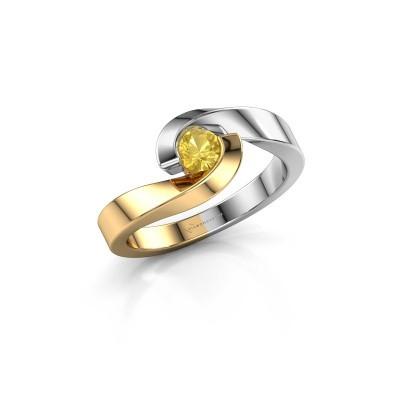 Foto van Ring Sheryl 585 goud gele saffier 4 mm