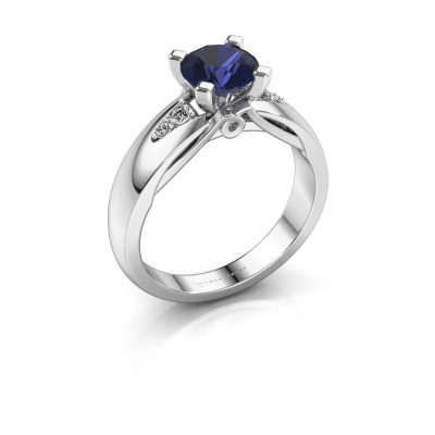 Engagement ring Ize 925 silver sapphire 6.5 mm