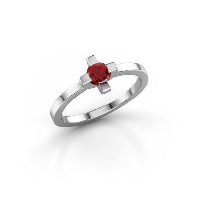 Ring Therese 950 platina robijn 4.2 mm