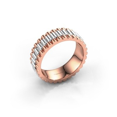 Foto van Rolex stijl ring Zenn 585 rosé goud