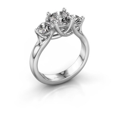 Engagement ring Esila 585 white gold zirconia 6.5 mm