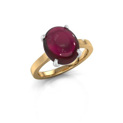 Picture of Ring Mallie 1 585 gold garnet 12x10 mm