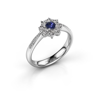 Picture of Engagement ring Carolyn 2 925 silver sapphire 3.4 mm