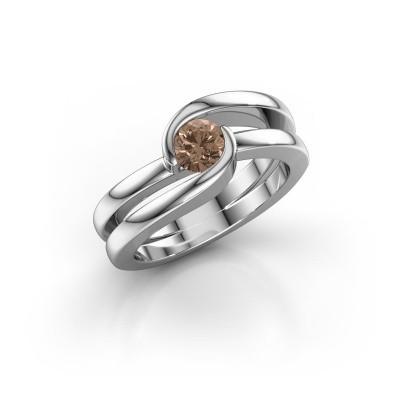 Foto van Ring Xenia 1 925 zilver bruine diamant 0.50 crt