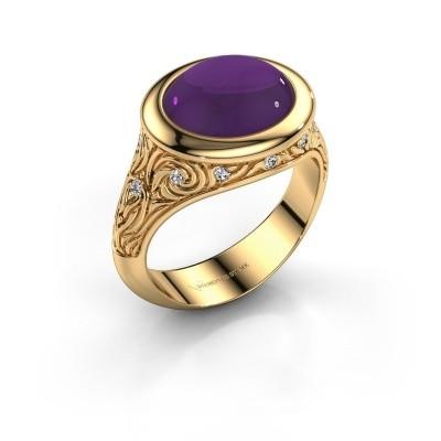 Foto van Ring Natacha 585 goud amethist 12x10 mm