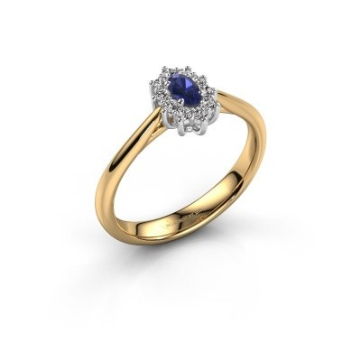 Image of Engagement ring Leesa 1 585 gold sapphire 5x4 mm